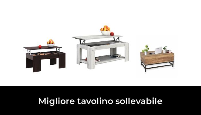 Tavolino da Salotto Funzionale con Gran capacit/à di Contenimento Moderno Colore Bianco Elegante COMIFORT Tavolino Sollevabile Estensibile 2 Gambe Ecologico Molto Resistente