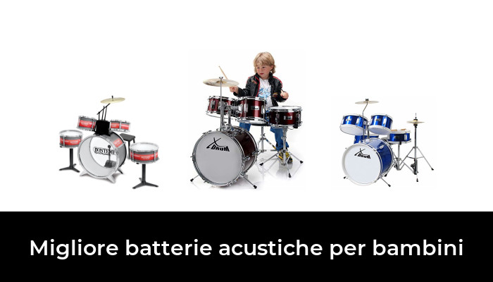 Batteria Acustica per bambini Kit Junior completa rossa OFFERTA