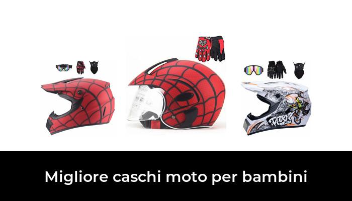 Casco Motocross Bambino 5 ~ 12 Anni Omologato DOT Casco Moto Integrale Unisex per Downhill Enduro MTB Scooter Quad Bike ATV con Design FOX Opaco Nero Arancione - MJH-01 Occhiali+Maschera+Guanti